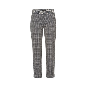 Slim Fit Check Trousers Deep Blue