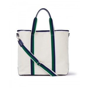 Canvas Tote Cream/Green/Navy