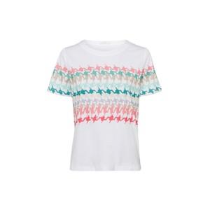 1/2 Sleeve Pattened Jersey T-Shirt White