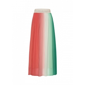 Riani Colour Gradient Pleated Skirt Coral/Green