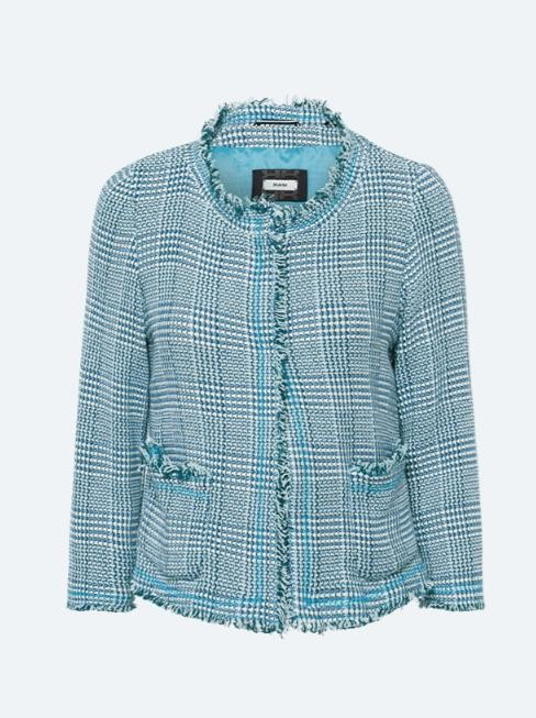 Riani Tweed Jacket with Tassels Spa Blue