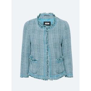 Tweed Jacket with Tassels Spa Blue