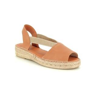 Etna Peep Toe Shoe Leather Tan