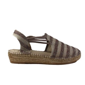 Nancy Glitter Strp Shoe Stretch Sides Taupe/Multi