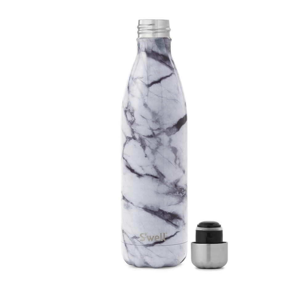 Swell Elements Bottle Flask Insulated White Marble