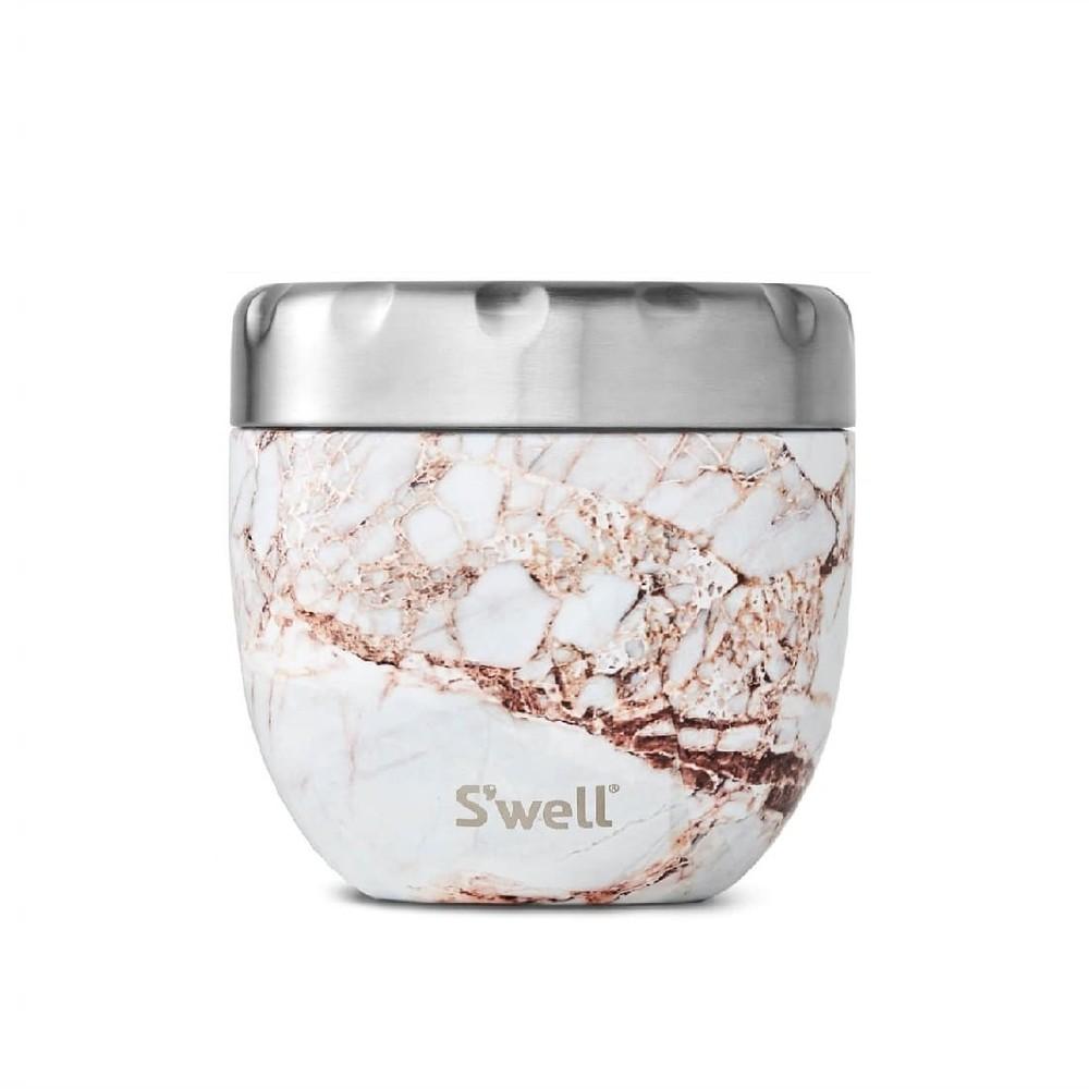 Swell Eats Flask Calacatta Gold