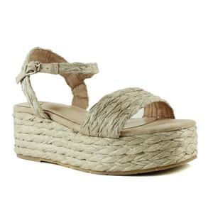 Bibi Lou Raffia Platform Sandal Natural