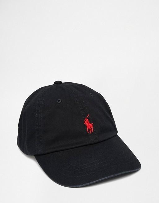 Polo Ralph Lauren Sport Cap Black/Red