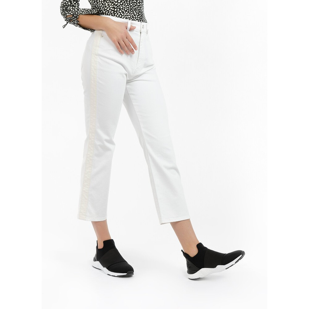 Marc Cain Jeans Contrast Side Trim White