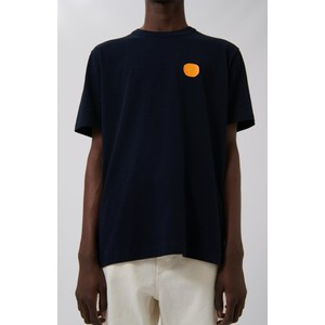 Loreak Dot Heavy Slub Tee Navy/Orange