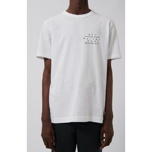 Dot text Heavy Slub Tee White
