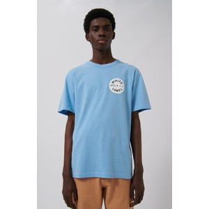White O Label T-Shirt Sky Blue
