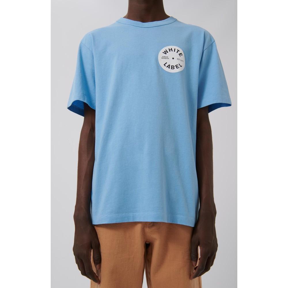 Loreak White O Label T-Shirt Sky Blue