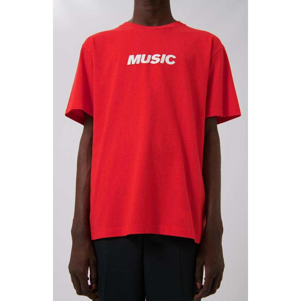 Loreak Music Logo T-Shirt Red