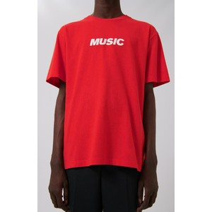 Music Logo T-Shirt Red