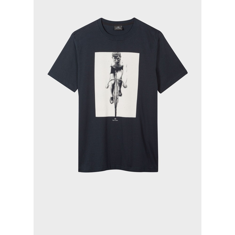 Paul Smith Cyclist Reg Fit T Shirt Dark Navy