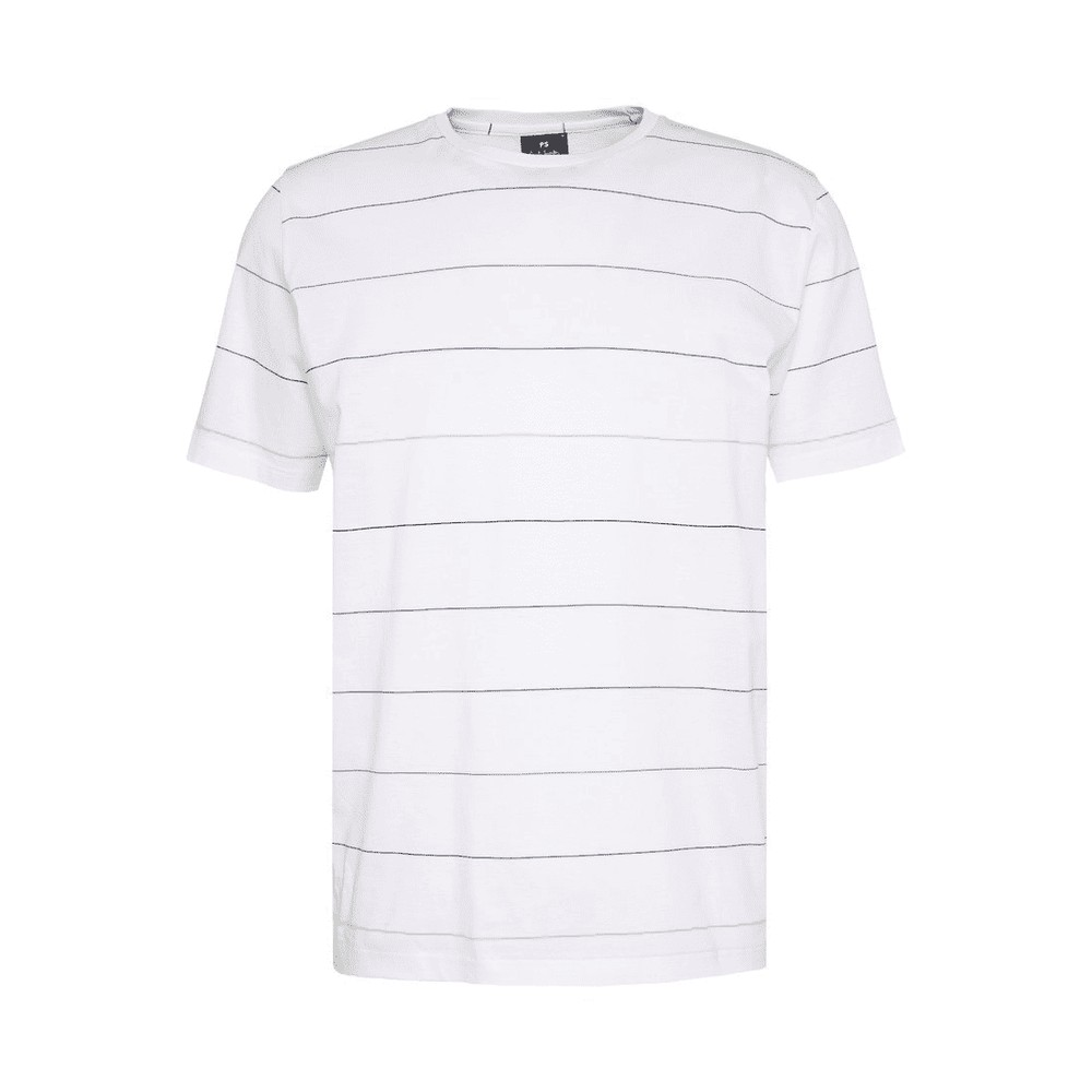 Paul Smith S/S Fine Lines T Shirt White/Multi