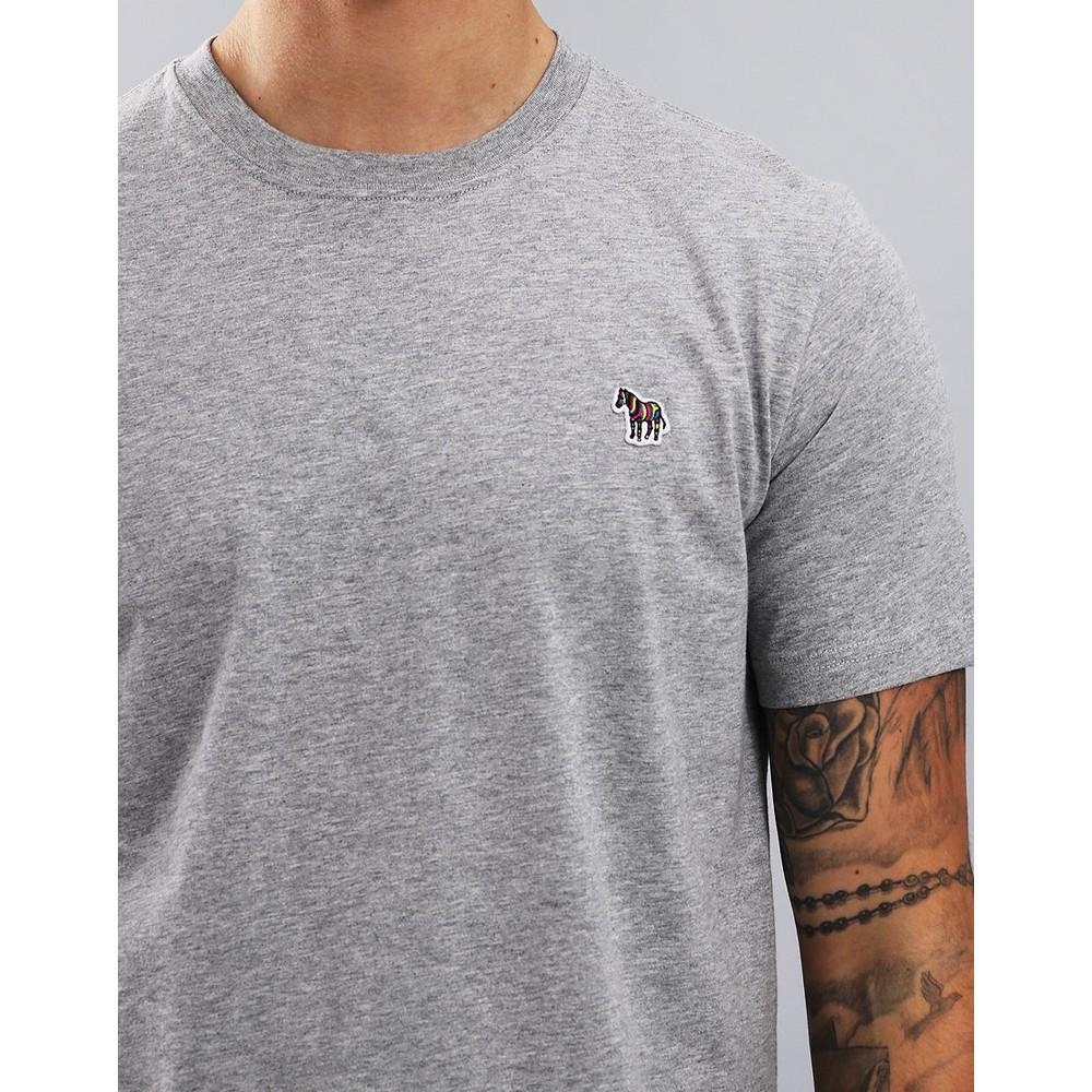 Paul Smith S/S Reg Fit Zebra Logo Tee Grey Melange