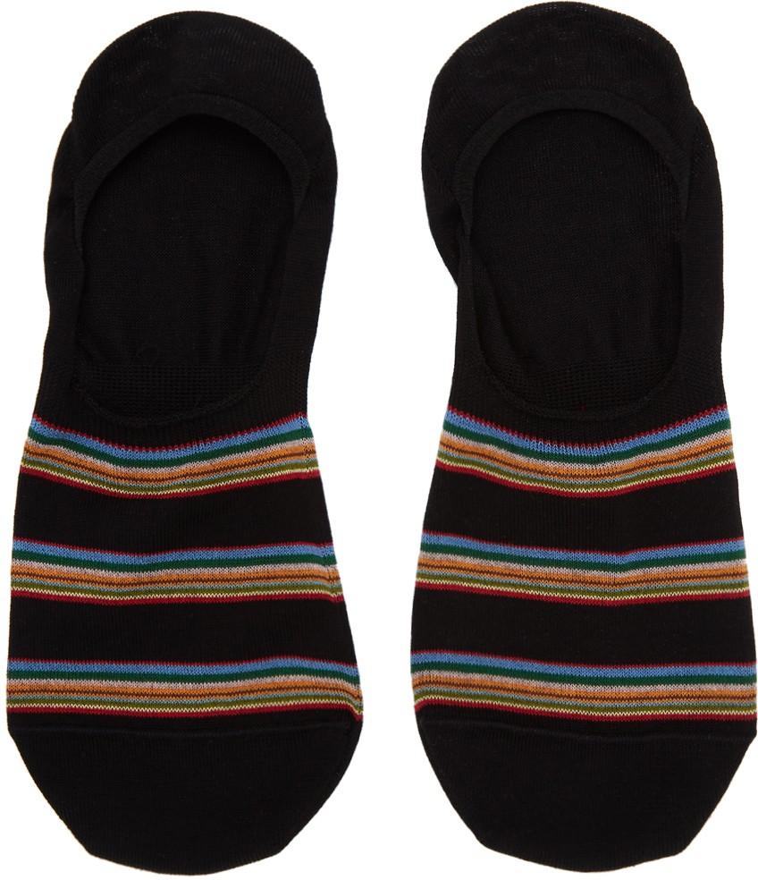 Paul Smith Accessories No Show Multi Block Socks Black/Brights