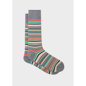 Paul Smith Accessories Multistripe Socks in Grey/Multi