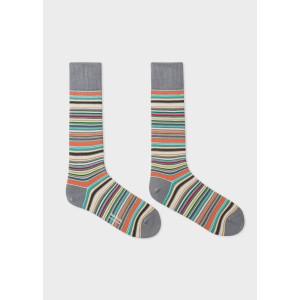 Paul Smith Accessories Multistripe Socks Grey/Multi