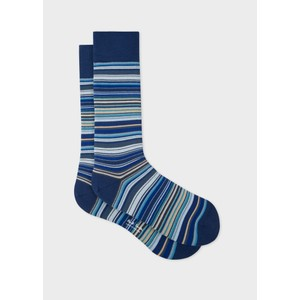 Paul Smith Accessories Multistripe Socks in Navy