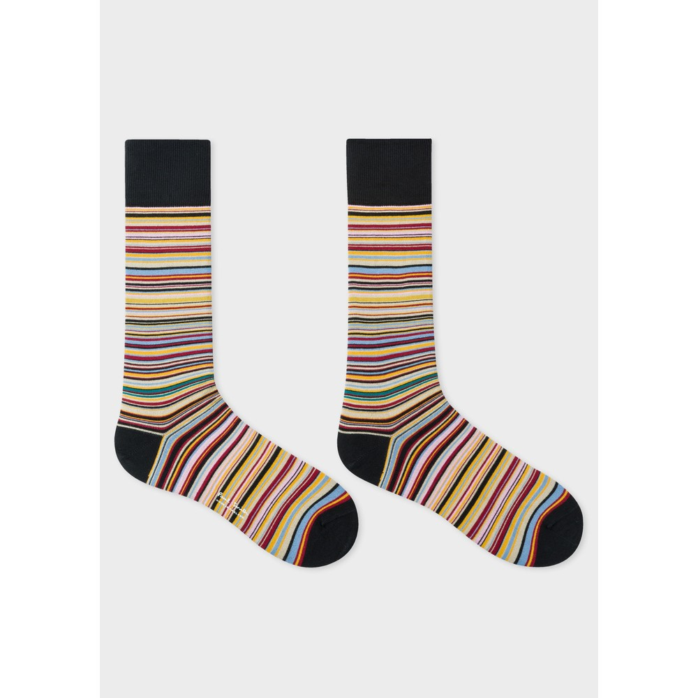 Paul Smith Accessories Multistripe Socks Black/Multi