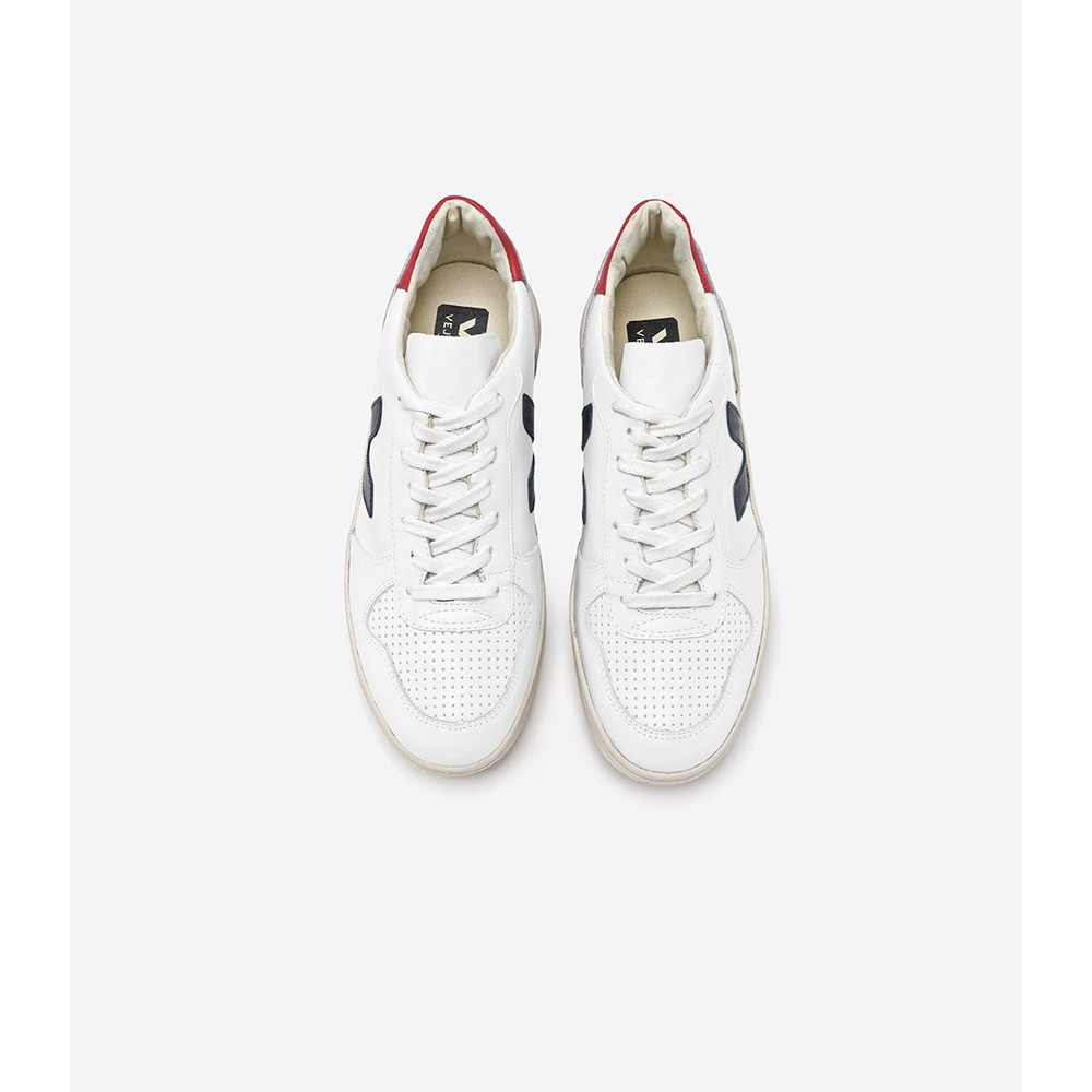 Veja V-10 Leather Extra White Nautico Perkin