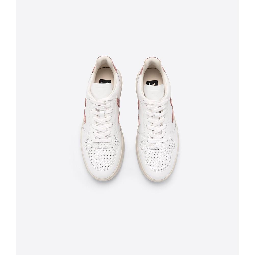 Veja V-10 Leather Trainer Extra White/Nacre