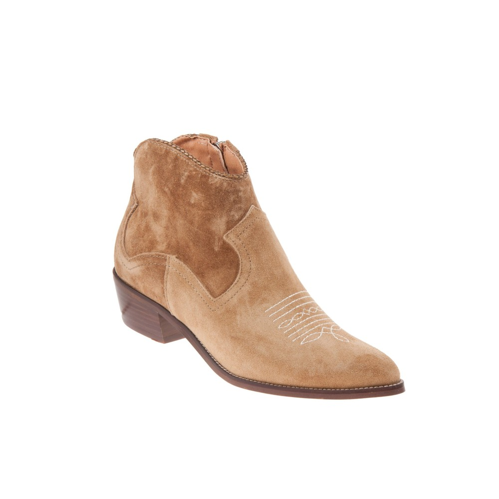 Alpe Stitch Detail Ankle Boot Tan
