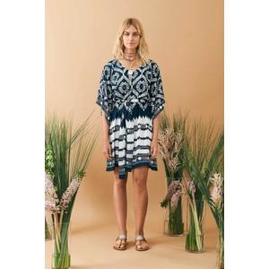 Batik Dress Navy/White