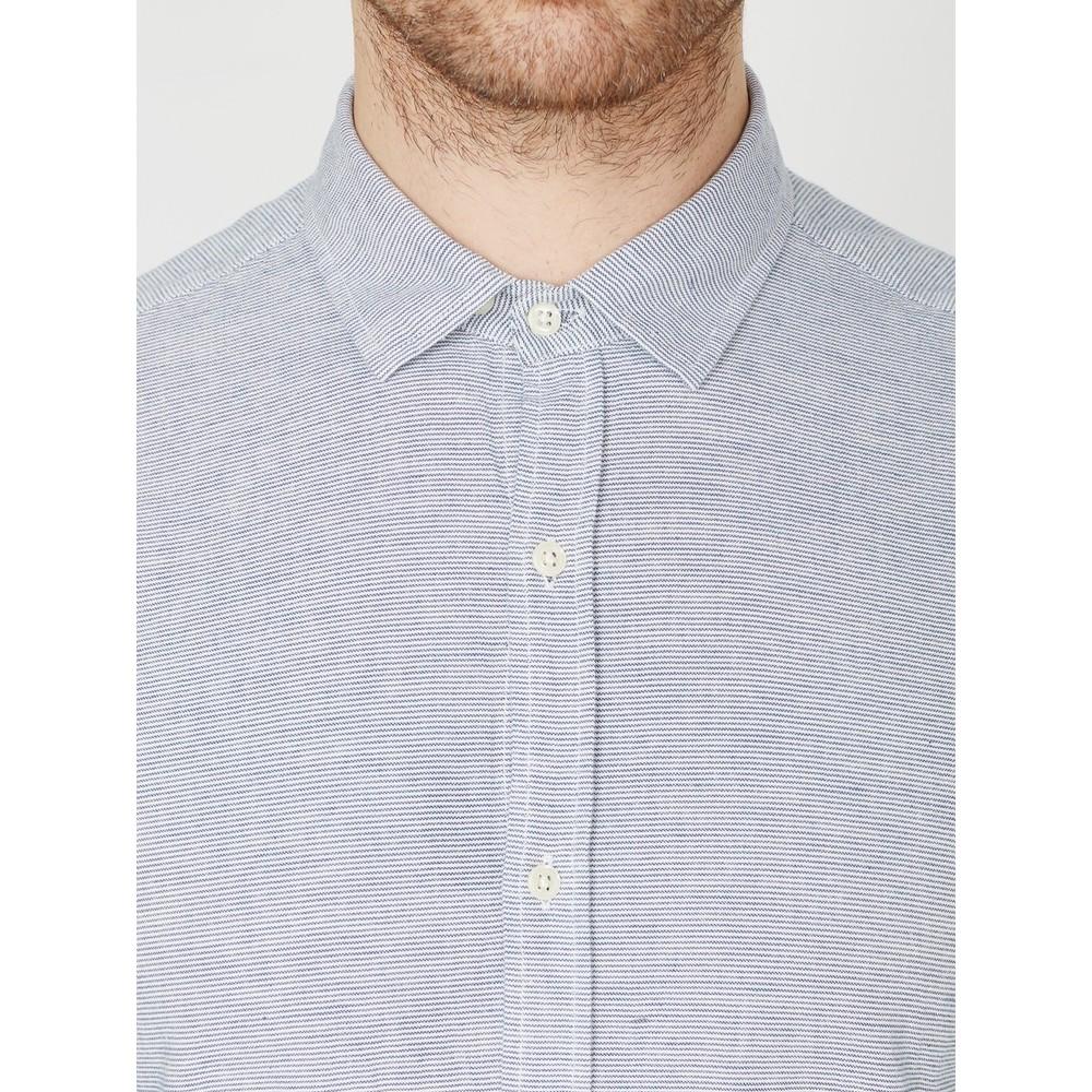 Oliver Spencer Clerkenwell Tab Shirt Shipley Blue