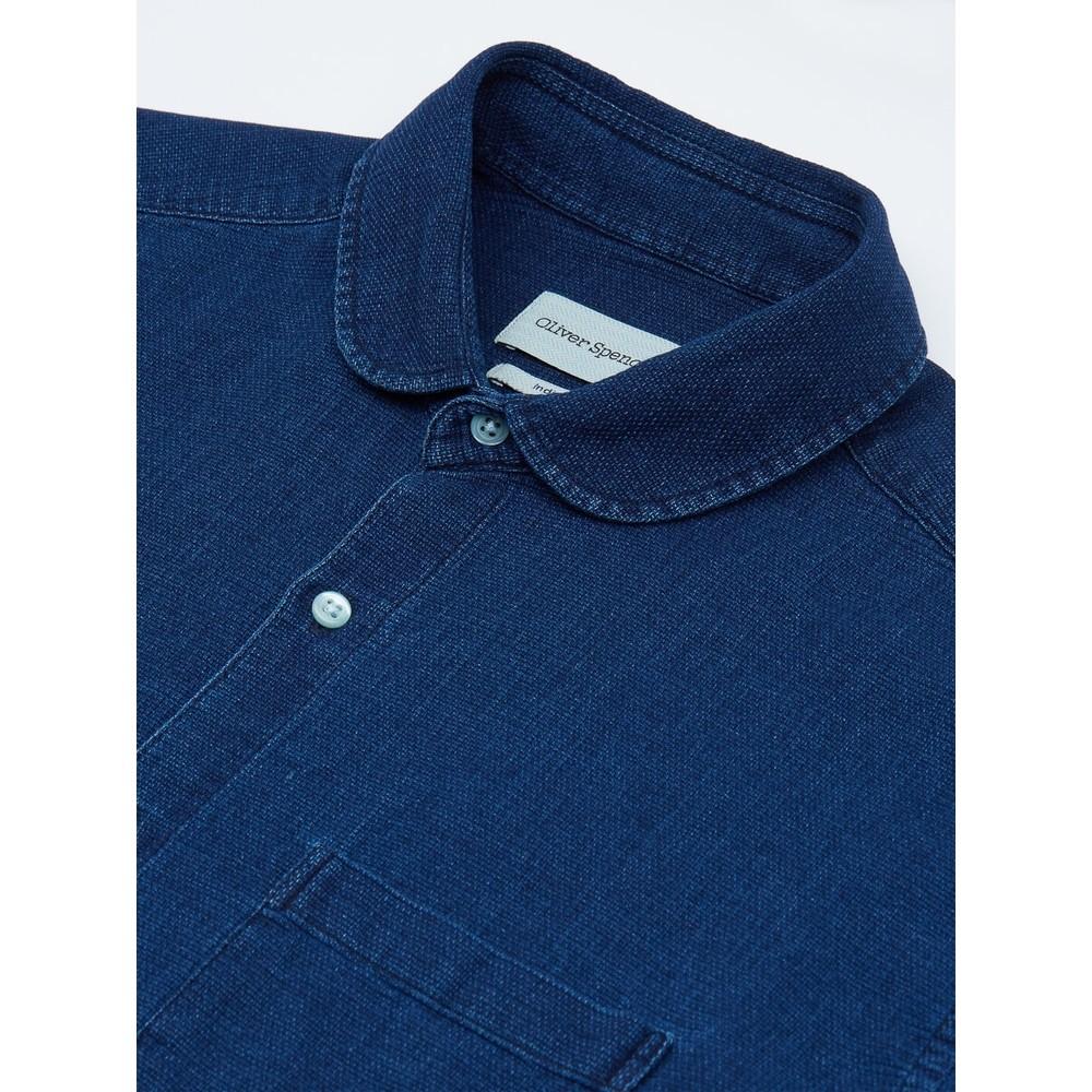 Oliver Spencer Clerkenwell Tab Shirt Kildale Indigo Rinse