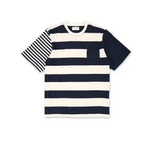 Oliver Spencer Box Tee Finsbury Navy/Oatmeal