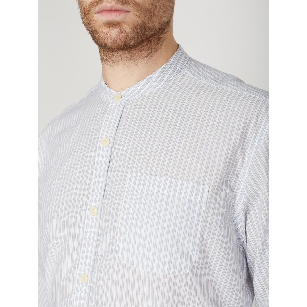 Oliver Spencer Grandad Shirt Petworth Blue