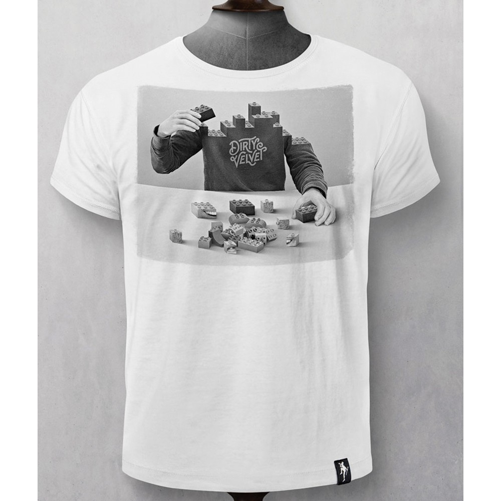 Dirty Velvet Pick Up The Pieces T Shirt White