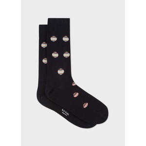 Paul Smith Accessories Multi Polka Dot Sock Navy