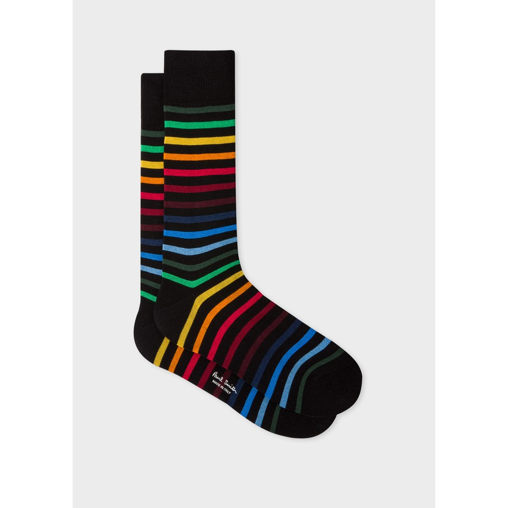 Paul Smith Accessories Neo Rainbow Socks Black/Brights