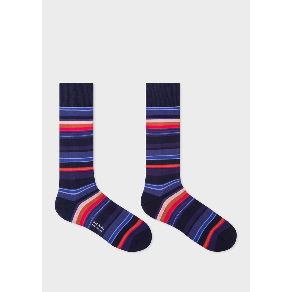 Paul Smith Accessories Horizon Stripe Socks Navy/Multi