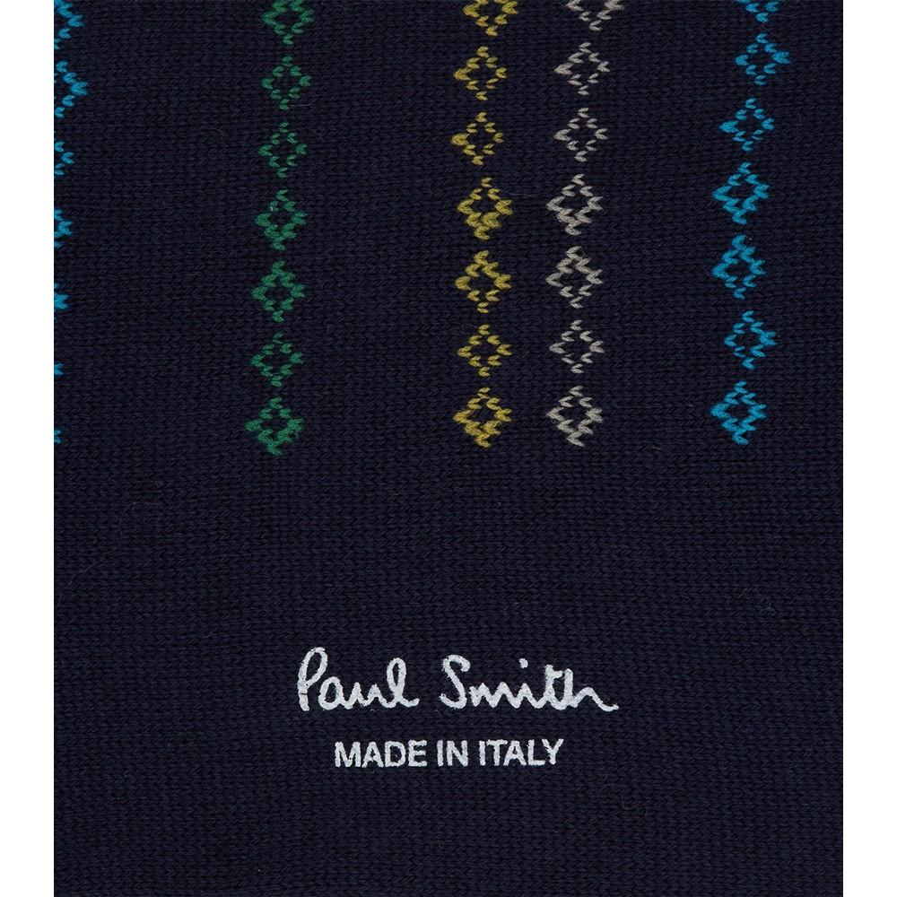 Paul Smith Accessories Chain Stripe Socks Navy/Multi
