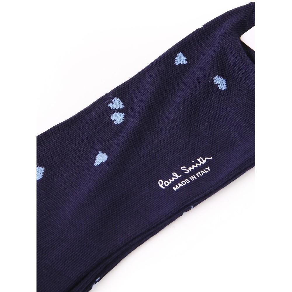Paul Smith Accessories Naan Hearts Socks Navy