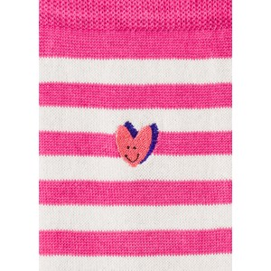 Paul Smith Accessories Nerrina Heart Stripe Sock Pink/White