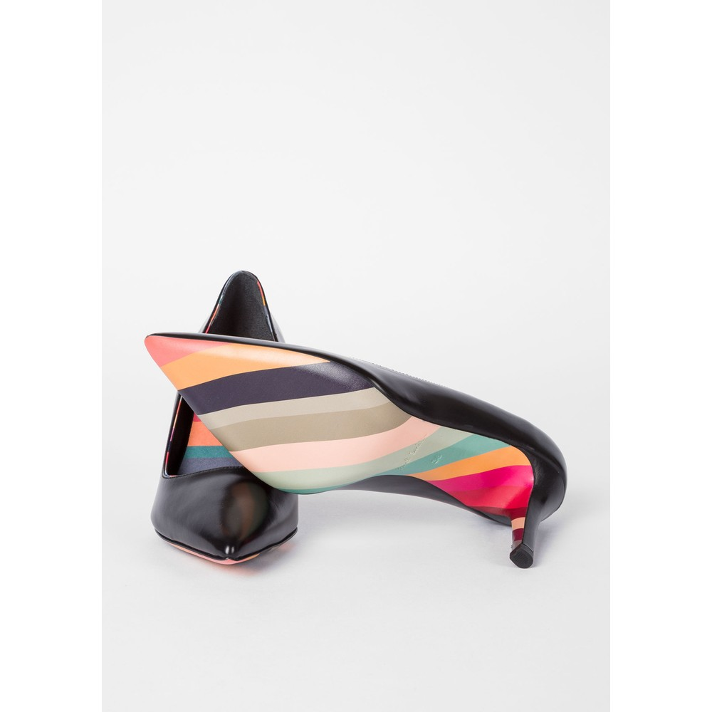 Paul Smith Shoes Blanche Pointed Heeled Shoe Black