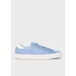 Pidgen Mock Croc Trainer Light Blue