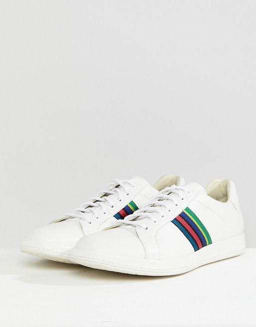 Paul Smith Shoes Lapin Leather Trainers White