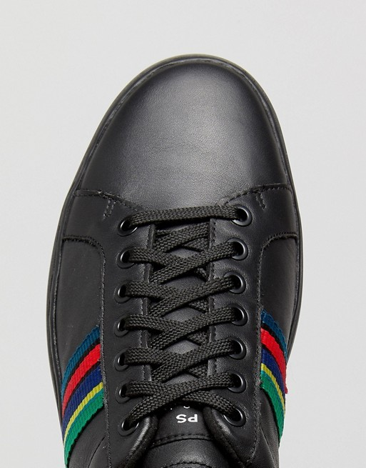 Paul Smith Shoes Lapin Leather Trainers Black