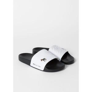 Paul Smith Shoes Summit Zebra Slides White