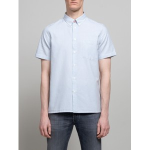 Paul Smith S/S Stripe Casual Fit Shirt Turquoise/White