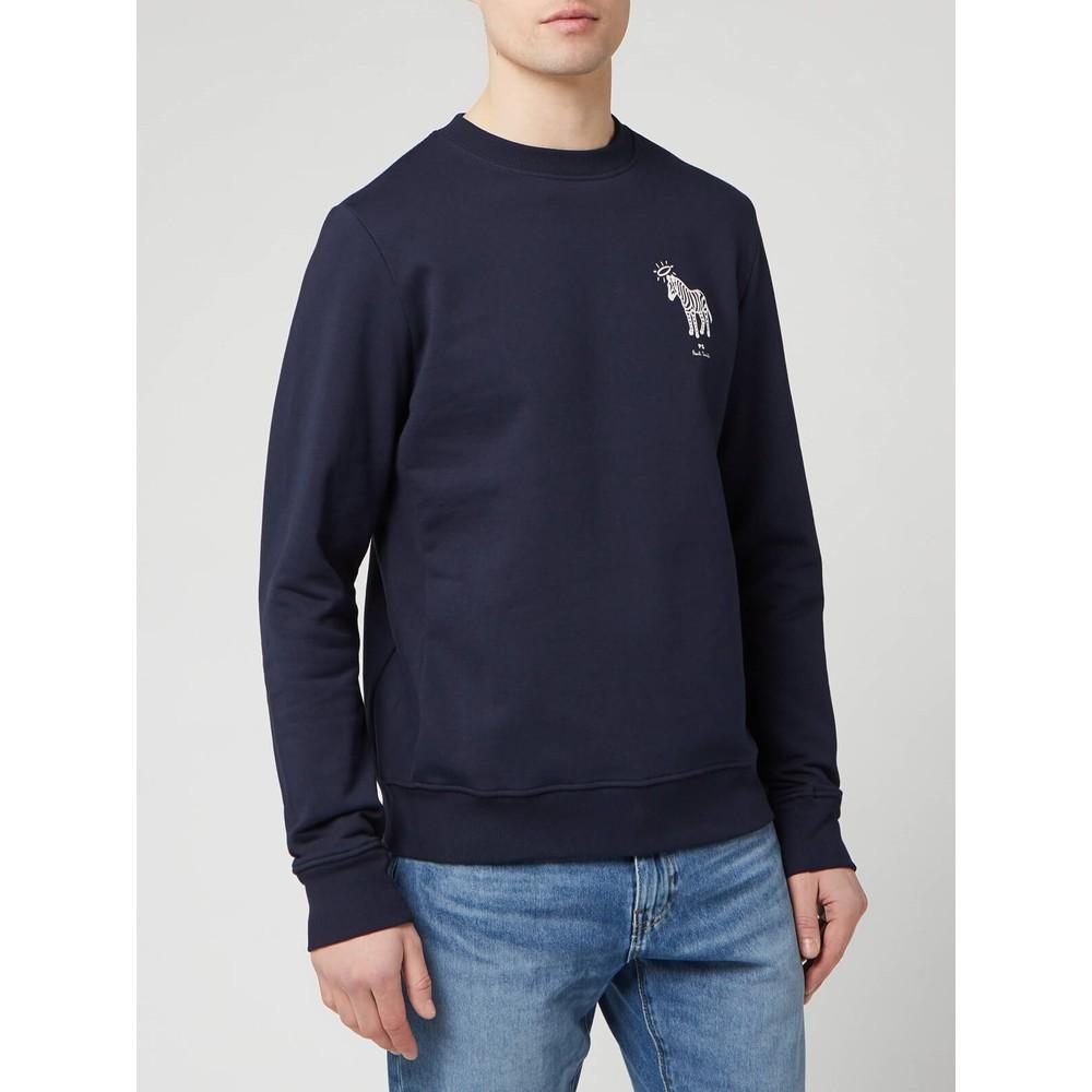 Paul Smith Halo Zebra Sweatshirt Dark Navy