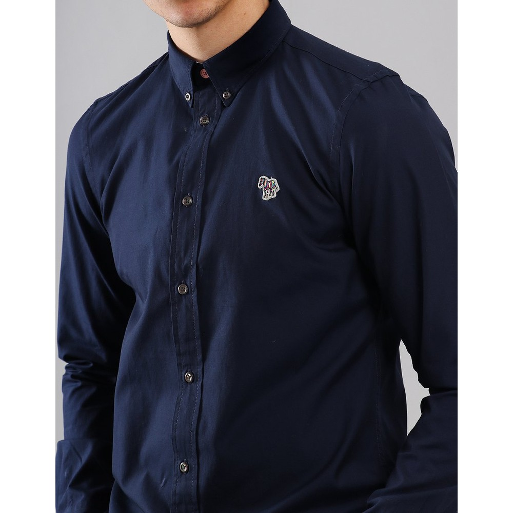 Paul Smith L/S Zebra Logo Tailored Shirt Inky